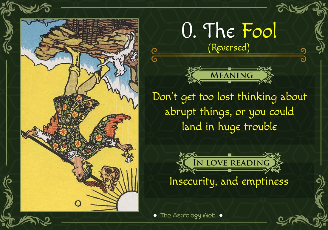 The Fool Tarot Meaning In Upright Reversed Love Other