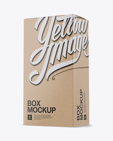 Download Kraft Paper Box Mockup Half Side View In Box Mockups On Yellow Images Object Mockups Box Mockup Mockup Free Psd Free Psd Mockups Templates