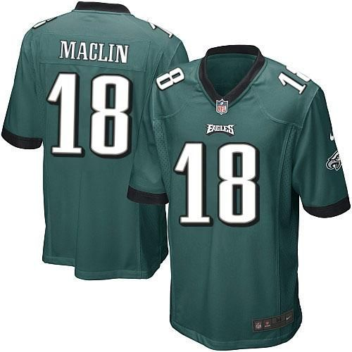7b92964d5 Nike NFL Philadelphia Eagles 18 Jeremy Maclin Limited Youth Midnight Green  Team Color Jersey Sale ...