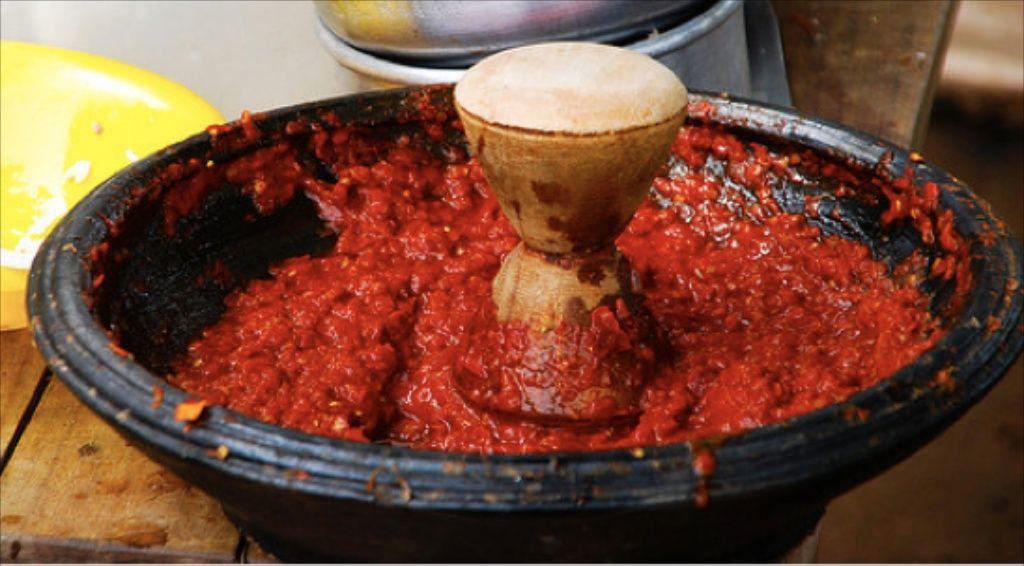Image result for grinding pepper ghana