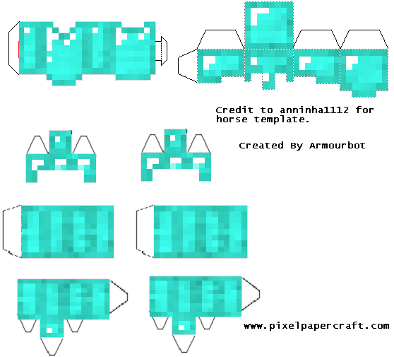 Papercraft Removable Diamond Armor Set Minecraft Printables Minecraft Templates Minecraft Crafts