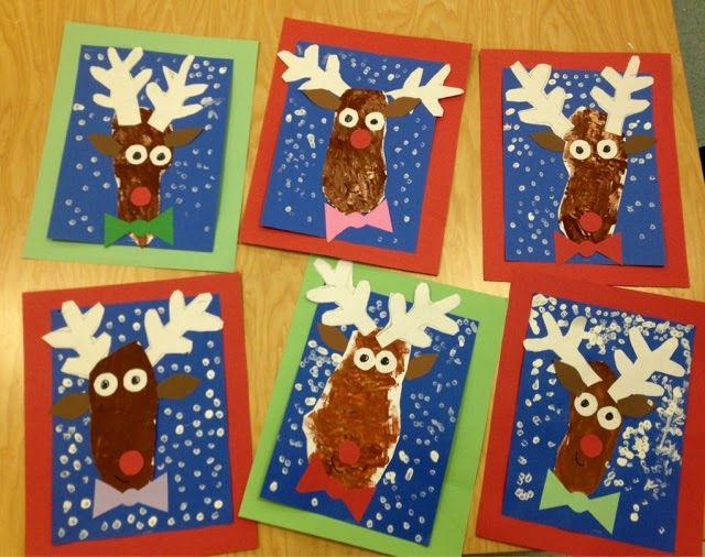Rudolph The Red Nosed Reindeer Kindergarten Holiday Art Fi Kindergarten Christmas Crafts Christmas Art Projects Christmas Kindergarten