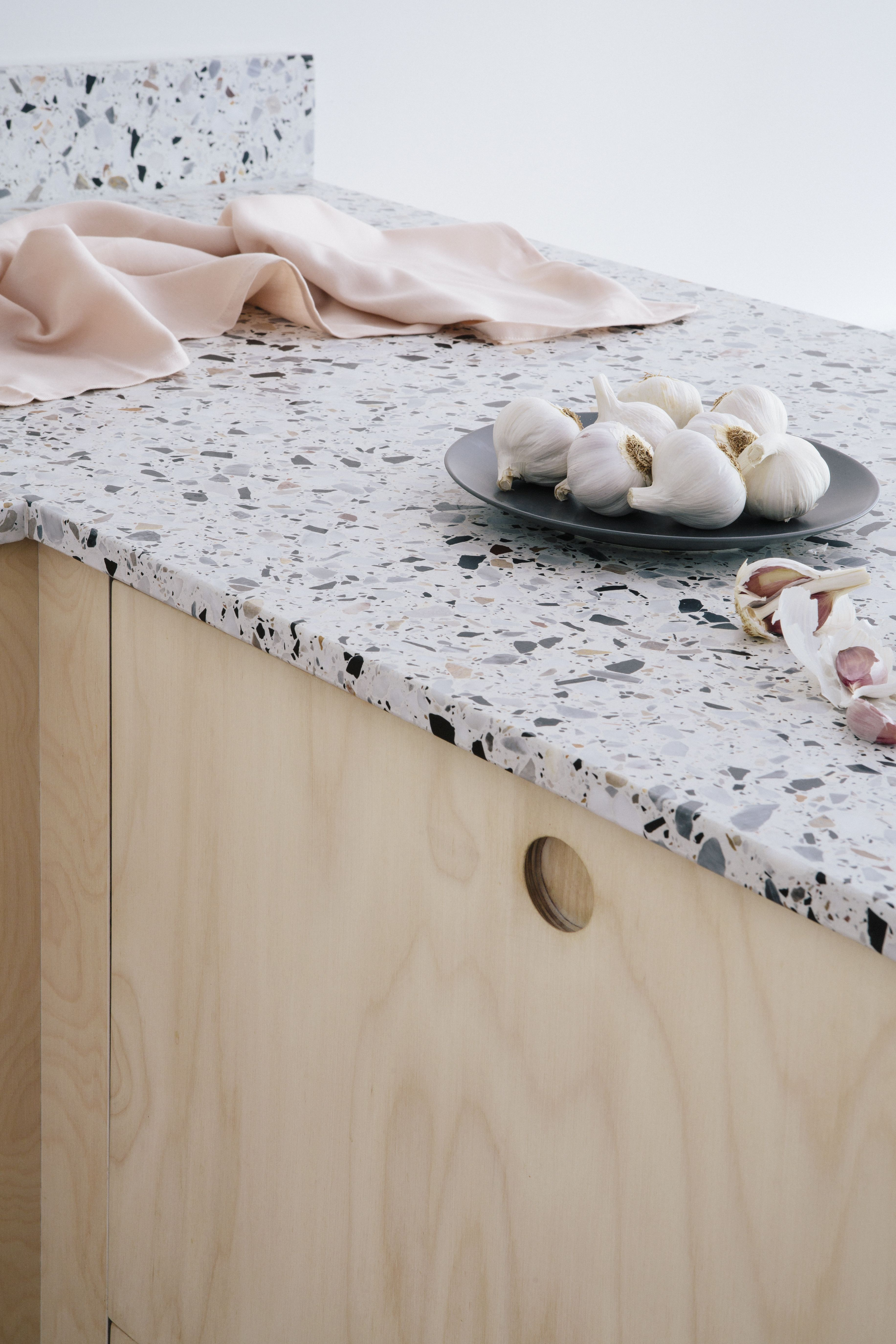 Plywood And Terrazzo Kitchen London By Custom Fronts Built On