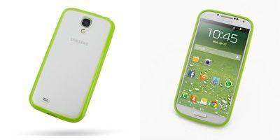 PDair Soft Gel Bumper Skin Case Cover for Samsung Galaxy S4 SIV GT-I9500 (Green)