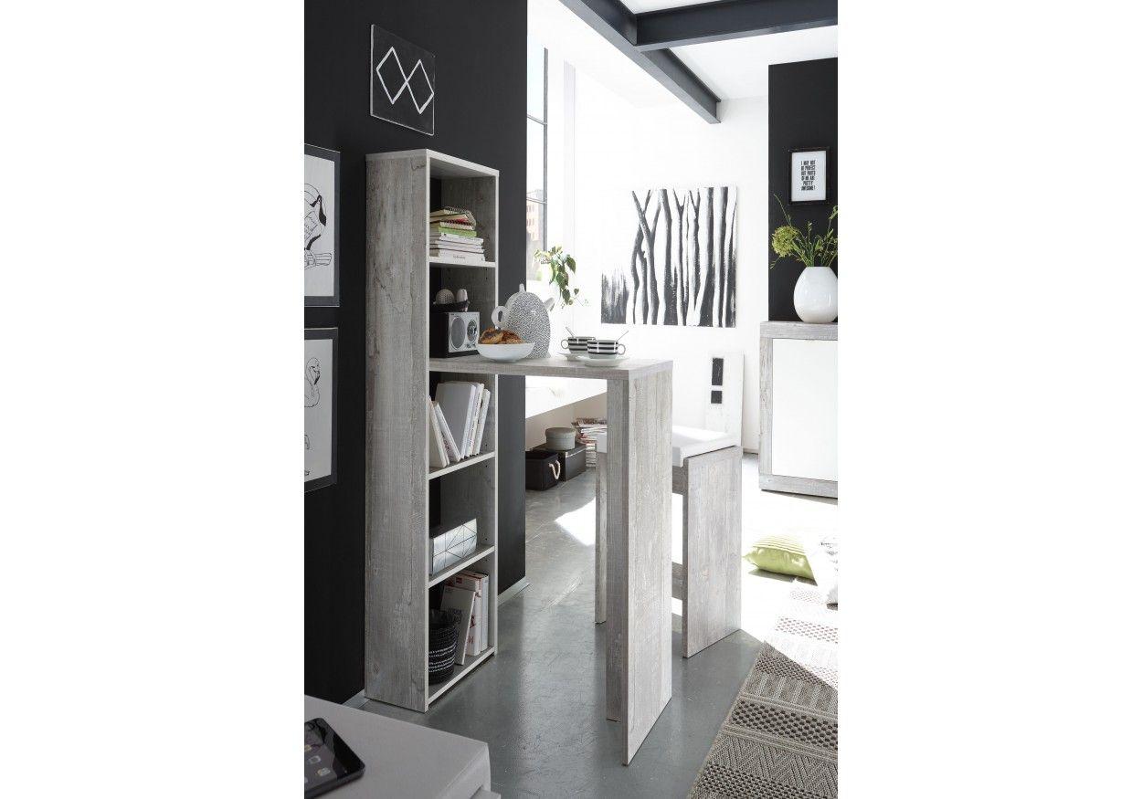 Küchenfront Betonoptik ~ Tolles regal mit tresentisch in angesagter betonoptik ideal für