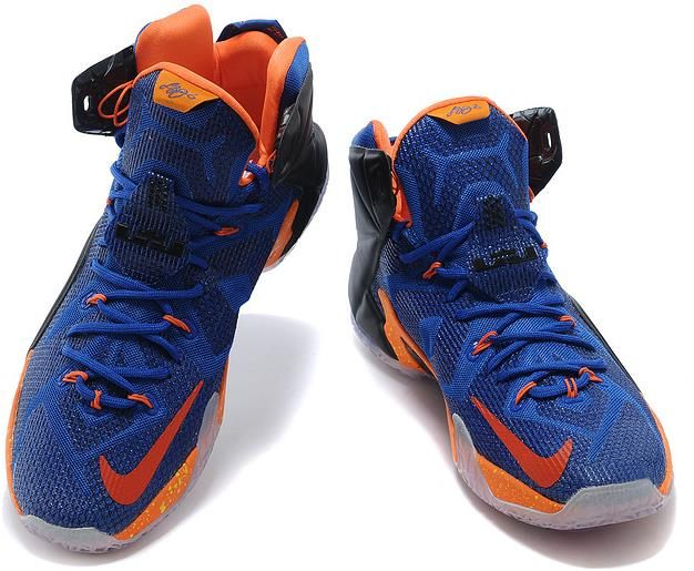 size 40 d20be 3cbf8 For Sale Nike LeBron 12 Hyper Blue Black-Orange Online For ...