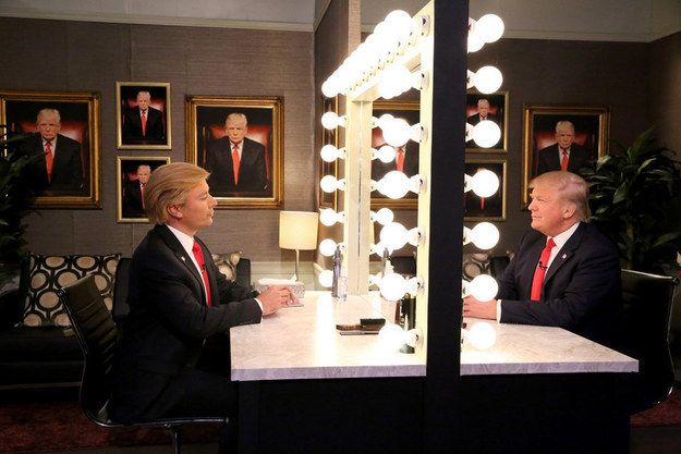 Jimmy Fallon Performed His Donald Trump Impression In Front Of Donald Trump