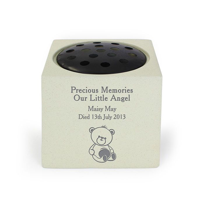 Engraved Personalised Grave Flower Vase Pots For Children Babies
