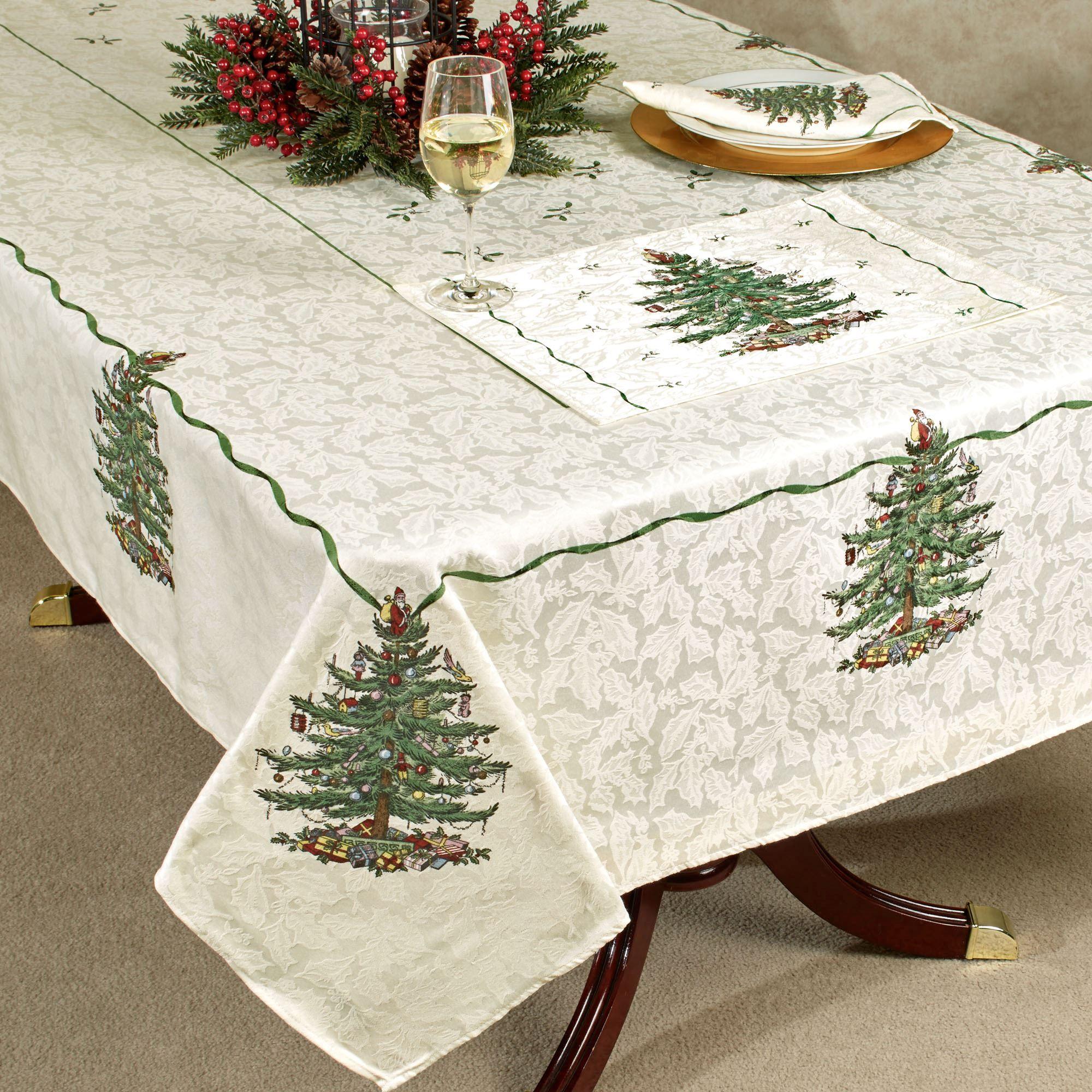 Spode Del Arbol De Navidad De Mesa Ropa De Cama Christmas Table