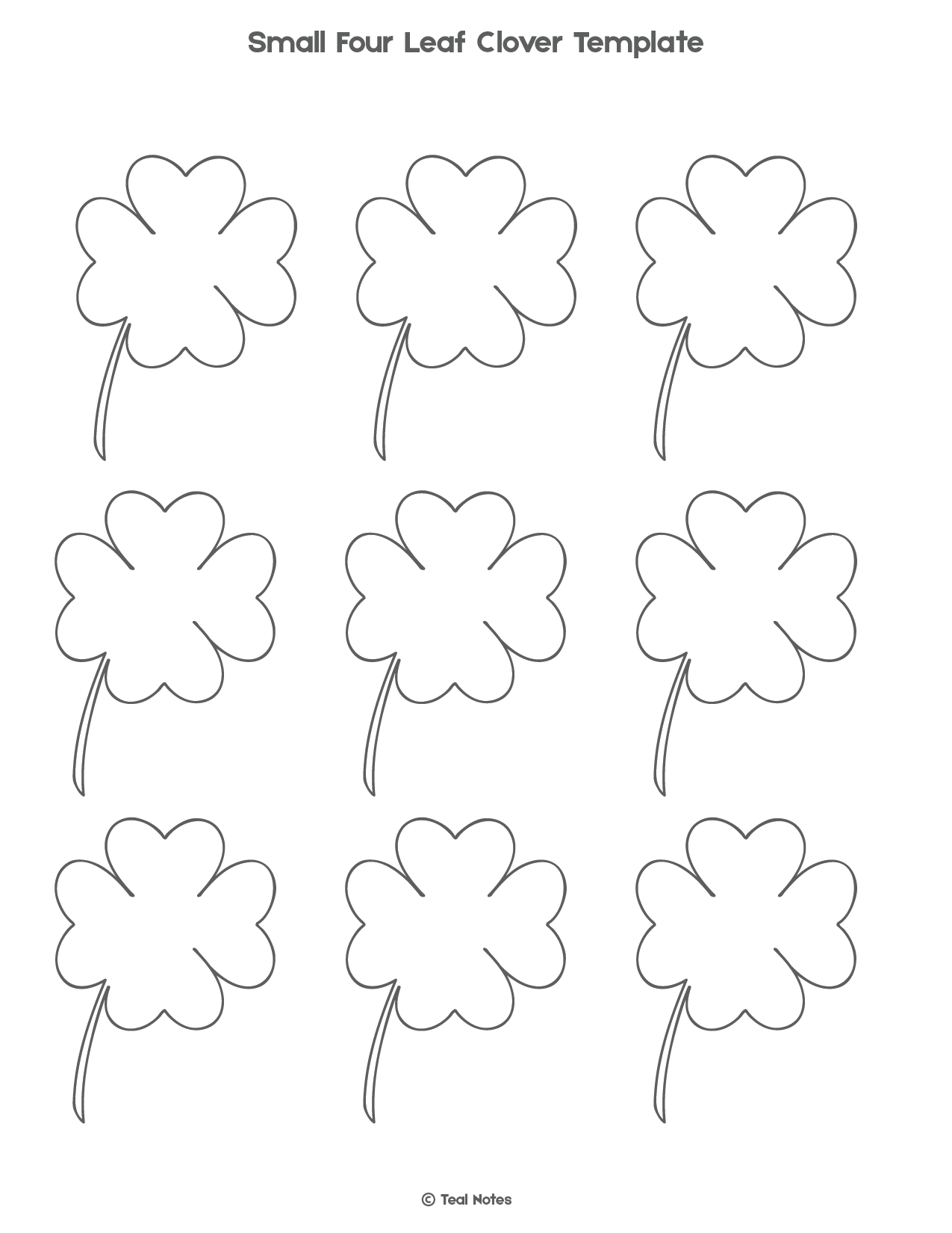 photograph relating to Four Leaf Clover Printable Template identify 4 Leaf Clover Template: Free of charge Shamrock Template Printable