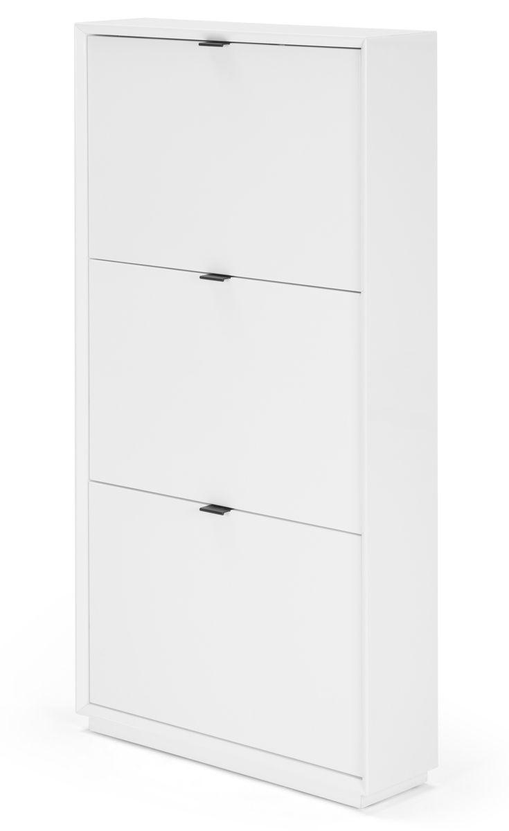 small white shoe storage cabinet