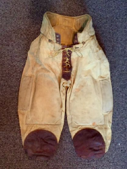 1920-1930 s Vintage Football Pants. They are the high-waist style with  leather a935ff894