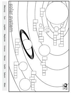 Worksheets English - Solar System | sistema solar | Pinterest ...