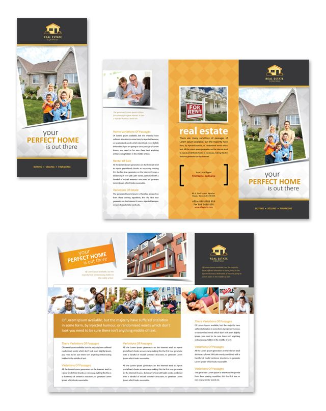 Real Estate Tri Fold Brochure Template Grow Up Pinterest - Real estate tri fold brochure template