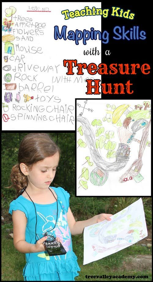 Teaching Kids Mapping Skills With A Treasure Hunt.