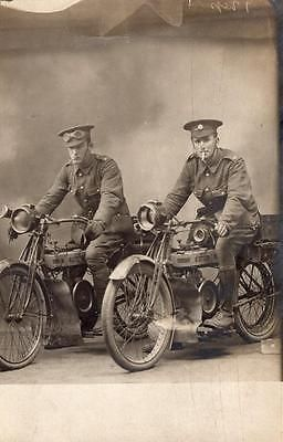 WW1 Army Service Corps Despatch Riders ASC Soldiers