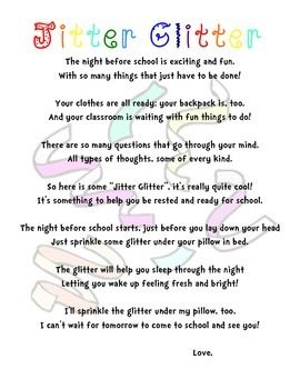 Image result for the night before is exciting and fun school poem