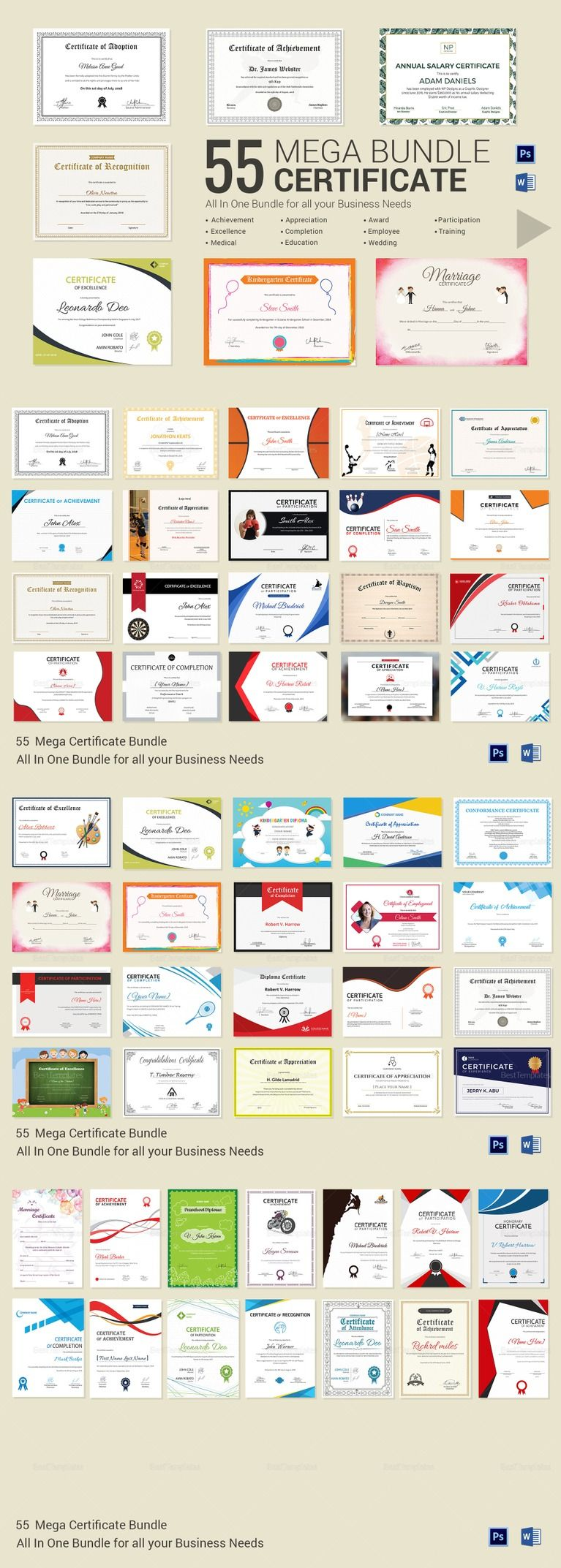 55 printable mega certificate bundle useful to everyone buy now 55 printable mega certificate bundle useful to everyone yadclub Gallery