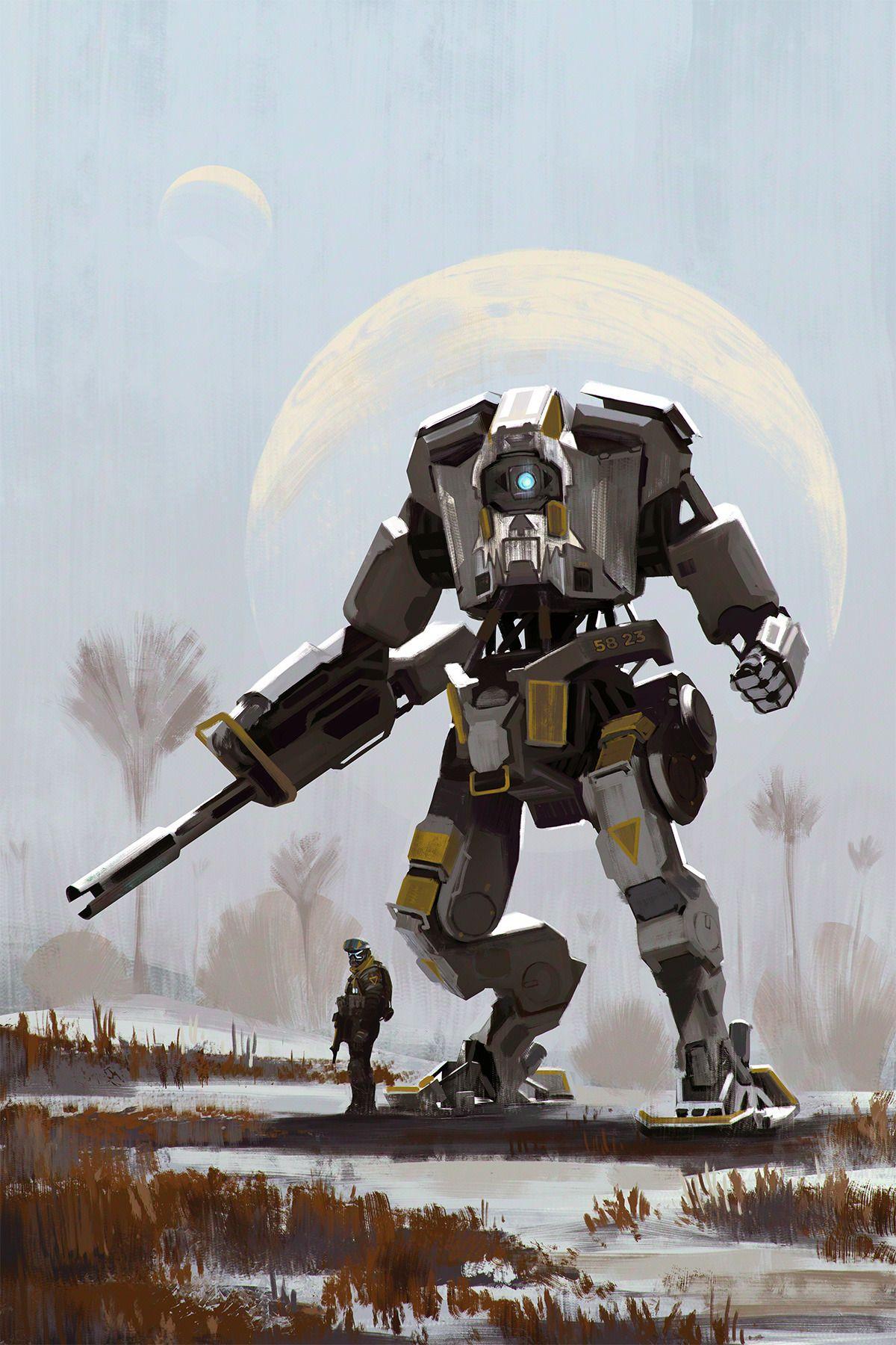 Titan fall art | Titanfall, Robot concept art, Pilots art