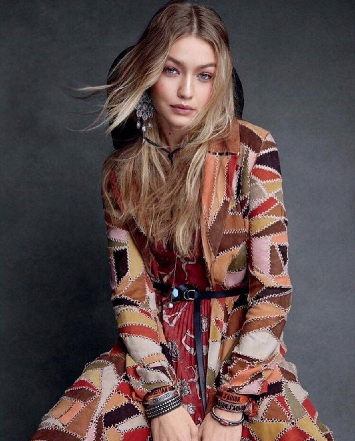 Patrick Demarchelier Vogue Ideias: Gigi Hadid For VOGUE US December 2017 Photographed By