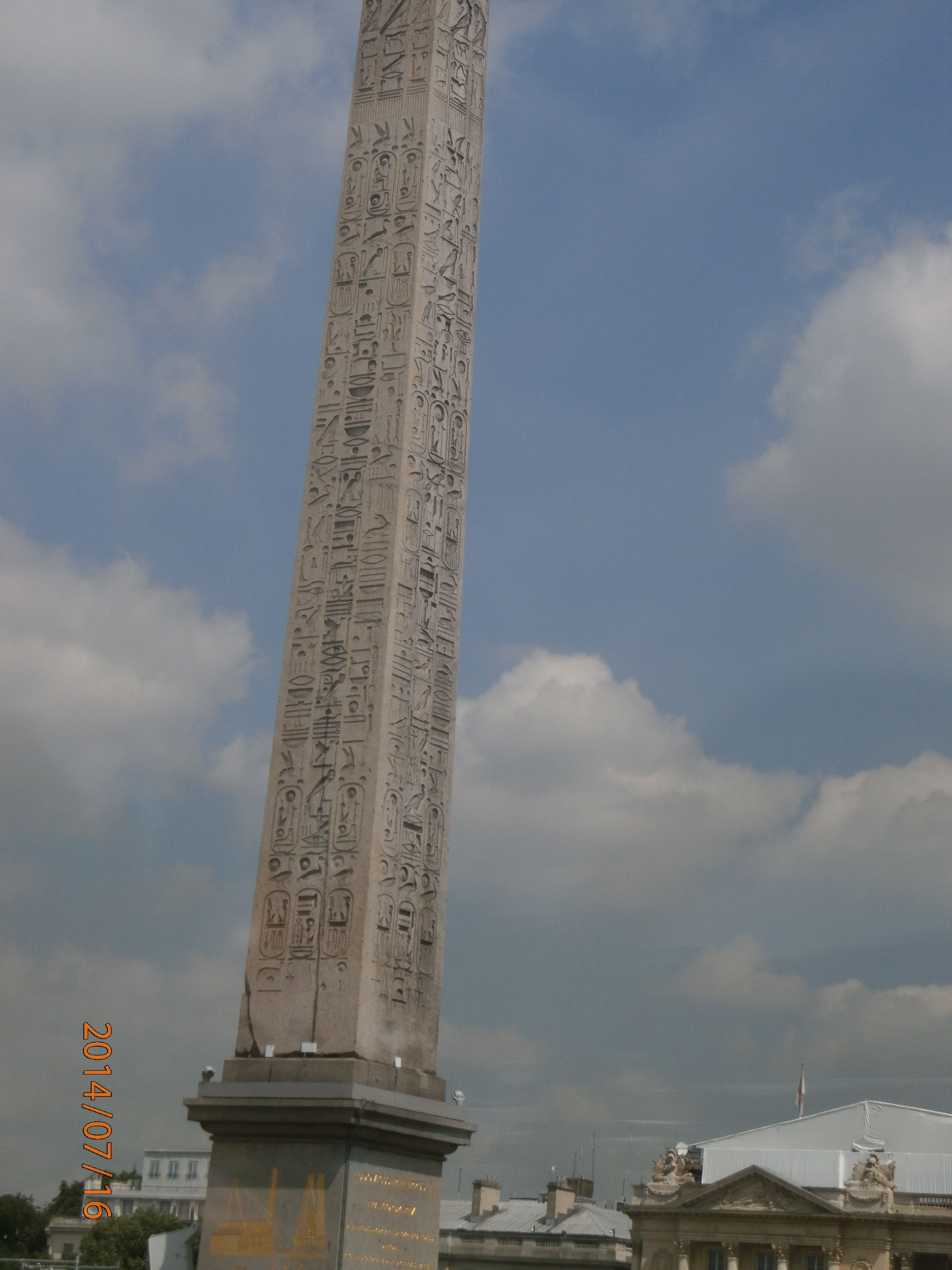 Obelisco egipcio de la Plaza de la Concordia.