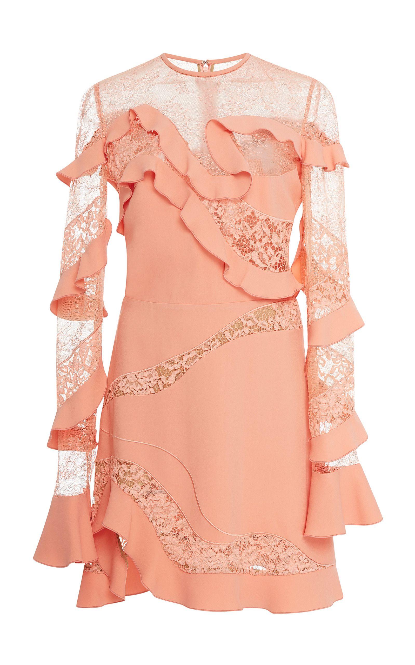 Ruffle and lace mini dress dresses pinterest dresses lace