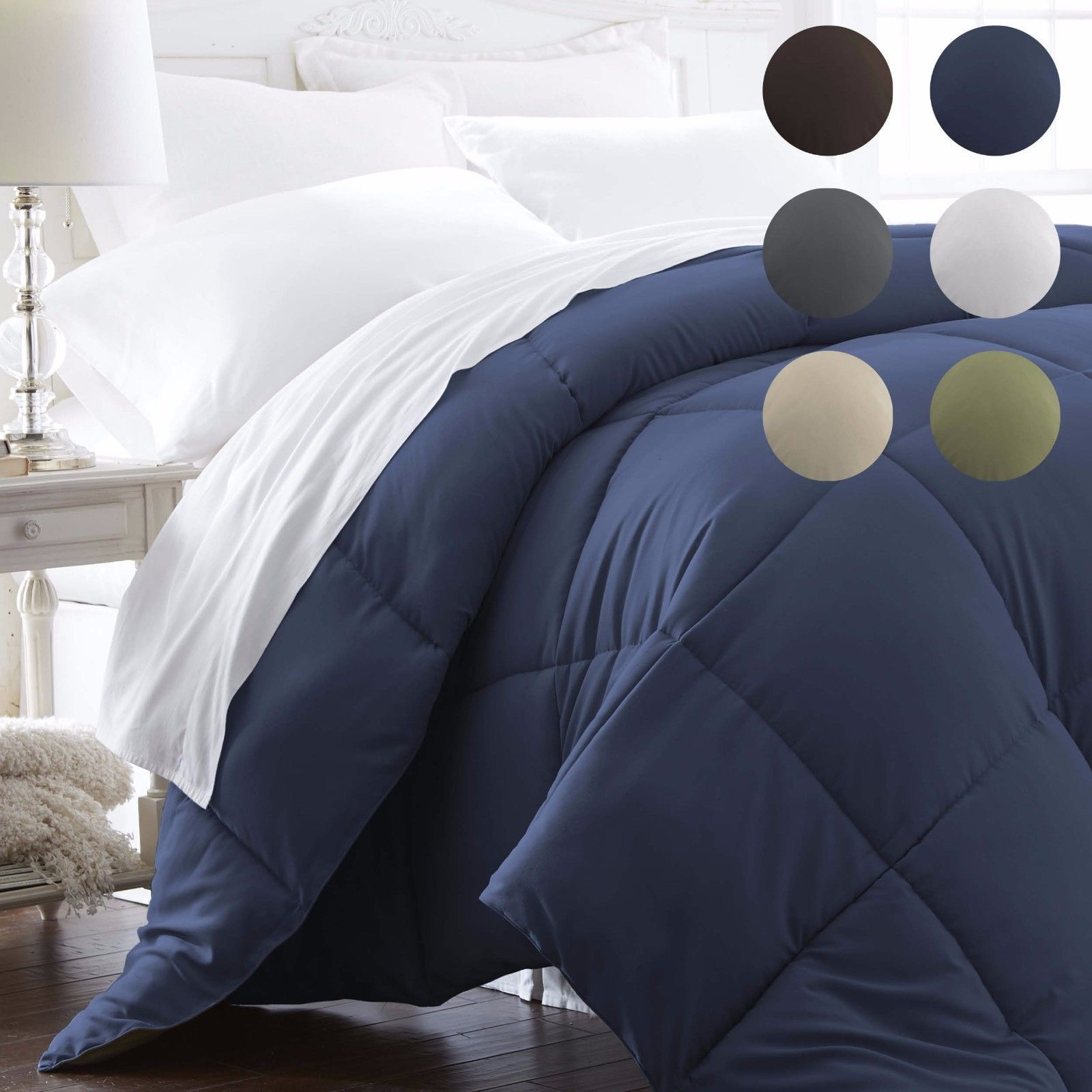 Ultra Soft Premium Goose Down Alternative Comforter 6 Classic Colors Ebay Comforters Sleeping In Bed King Size Duvet