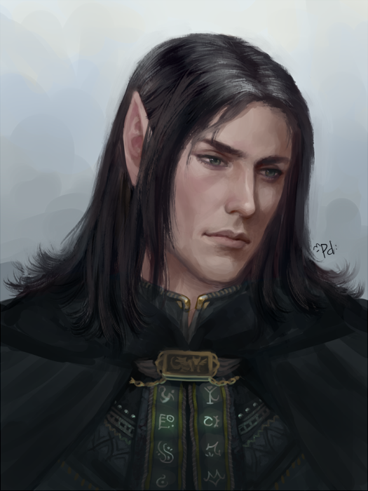 Blue haired male elf