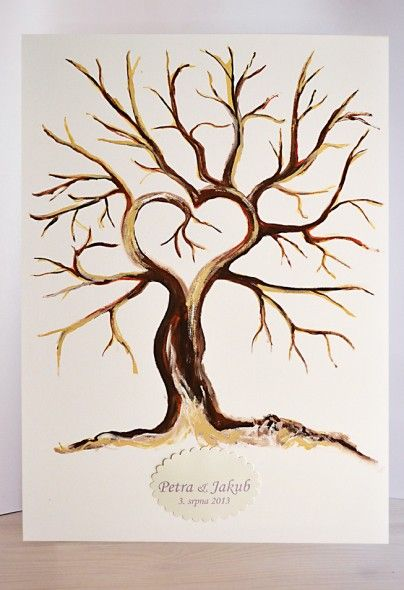 Svatebni Strom Akryl Na Platne 50x70 Cm Ss001 Svatebni Dekorace