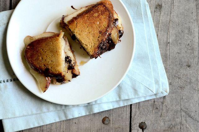 Pear, Dark Chocolate and Munster Panini