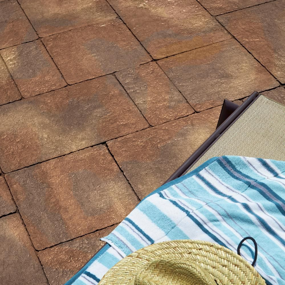 Pavestone Capriana 120 in. x 120 in. Abbronza Blend  Concrete Step Stone (72 Pieces / 98 Sq. ft. / Pallet)