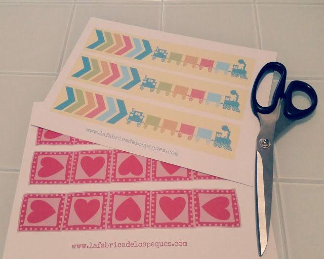 imprimibles y moldes gratis cenefas infantiles para decorar