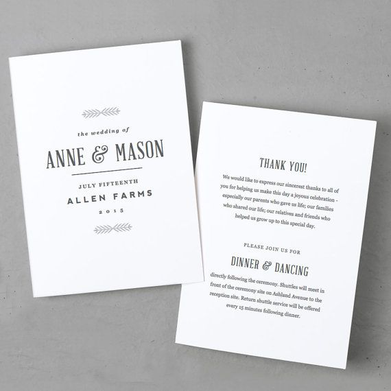 Editable Wedding Program Template  Instant Download  Rustic