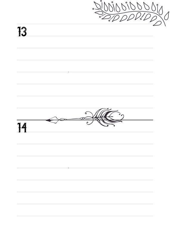 Calendario Perpetuo Estilo Boho Acuarelas Bullet Journal Español ...