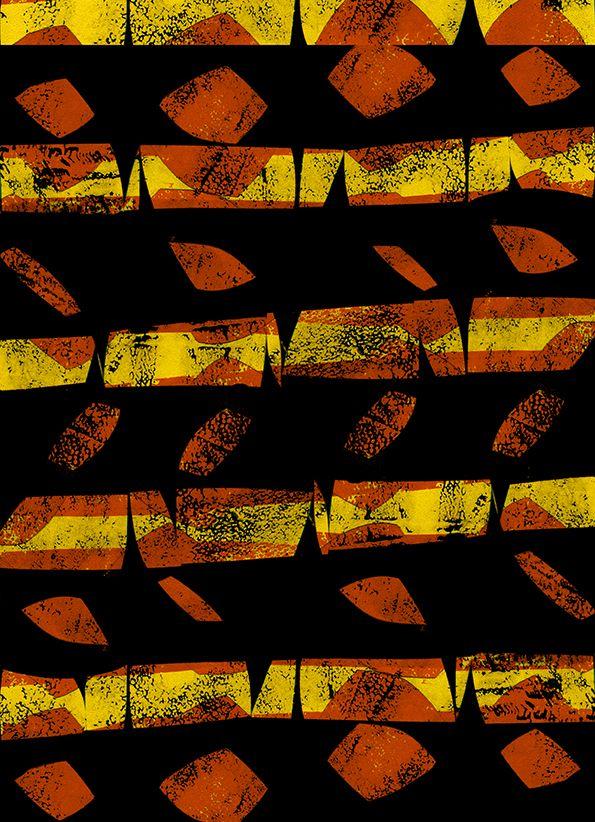 Orange and yellow screen - Sarah Bagshaw