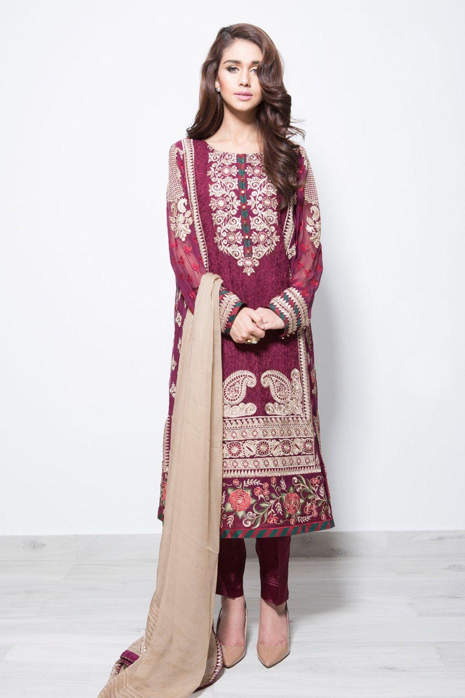 Pakistani dress baroque shirt with cigarette pants for Baroque design clothes