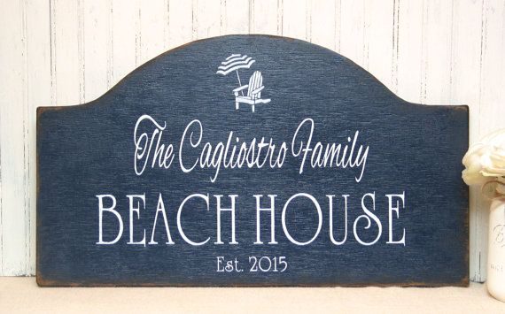Beach House Wooden Sign Personalized By Signsbydiane