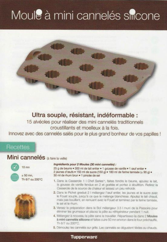 moule mini cannel s recette tupperware pinterest cuisine patisserie and thermomix. Black Bedroom Furniture Sets. Home Design Ideas