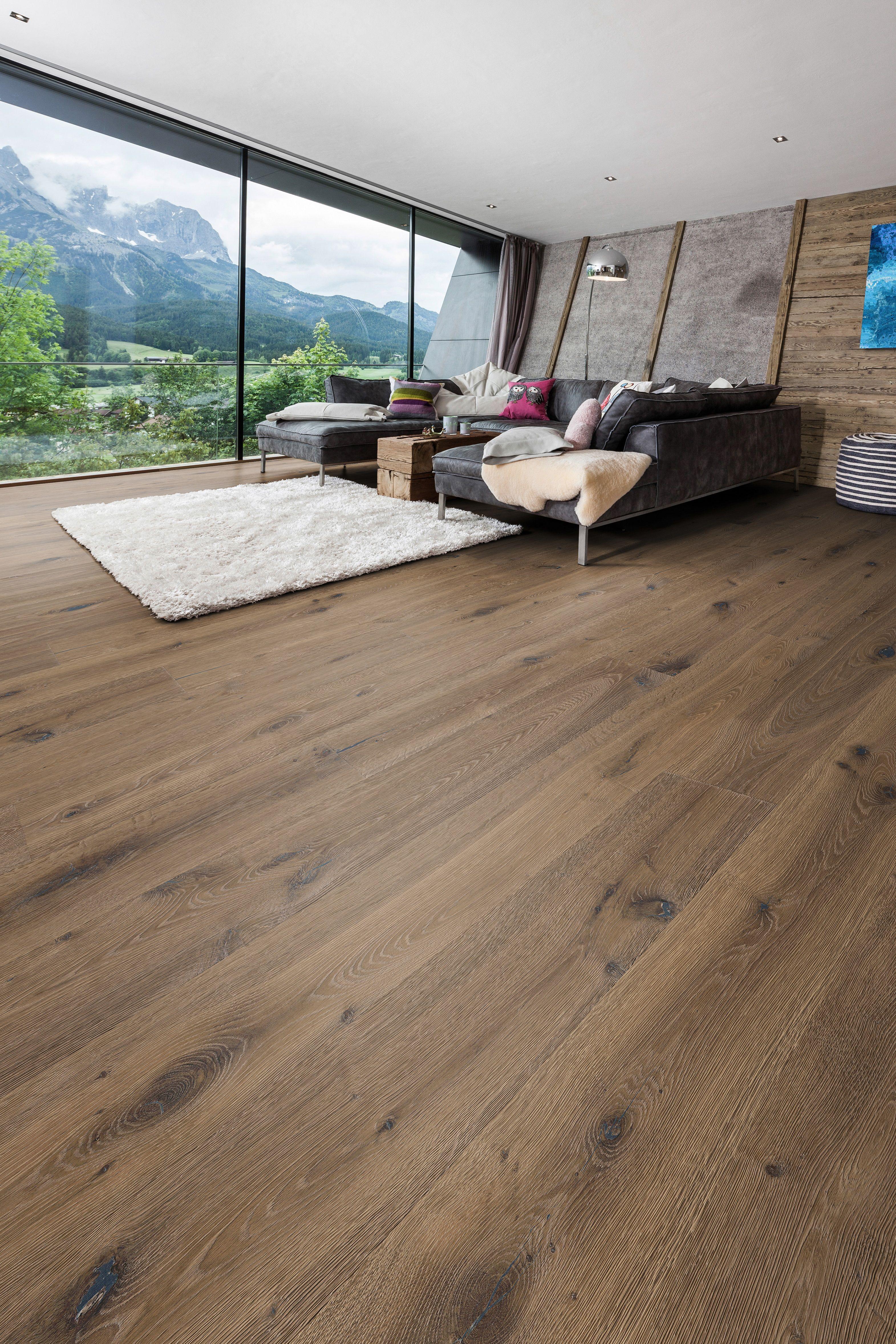 Landhausdiele Eiche Denver Haus Rustikale Holzboden Wohnzimmer Boden