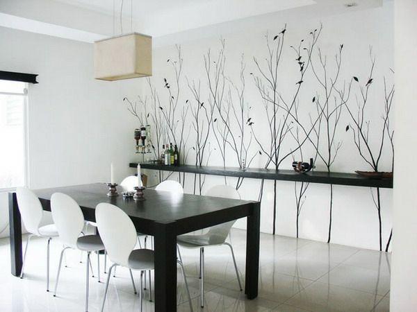 Tapeten Farben Ideen Moderne Esszimmer Gestaltung In Weiß