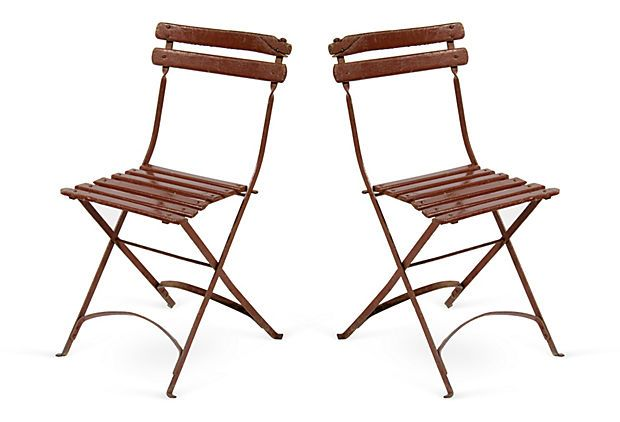 French Red Bistro Chairs, Pair on OneKingsLane.com