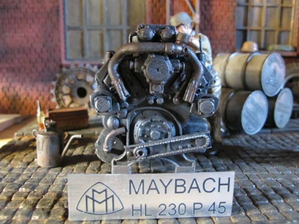 maybach hl230 p45 tiger königstiger rc panzer motor platte deko