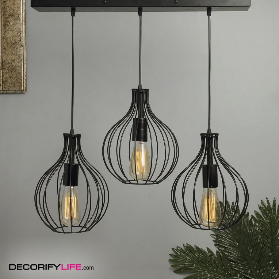 3 Lights Linear Cluster Chandelier Hanging Crown Pendant Light Pendant Light Cluster Chandelier Lamp Decor