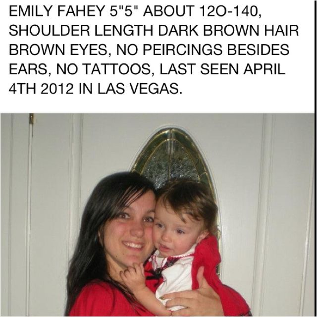 My friends cousin is missing!  She's only been in Vegas about a month.  Help us bring Emily Fahey home!  Last seen or heard from April 4th. Please contact me OR Las Vegas PD if you have seen her or may know her whereabouts, or have any other info. that may help us find her. She was in daily contact with family until April 4th. Please help us!