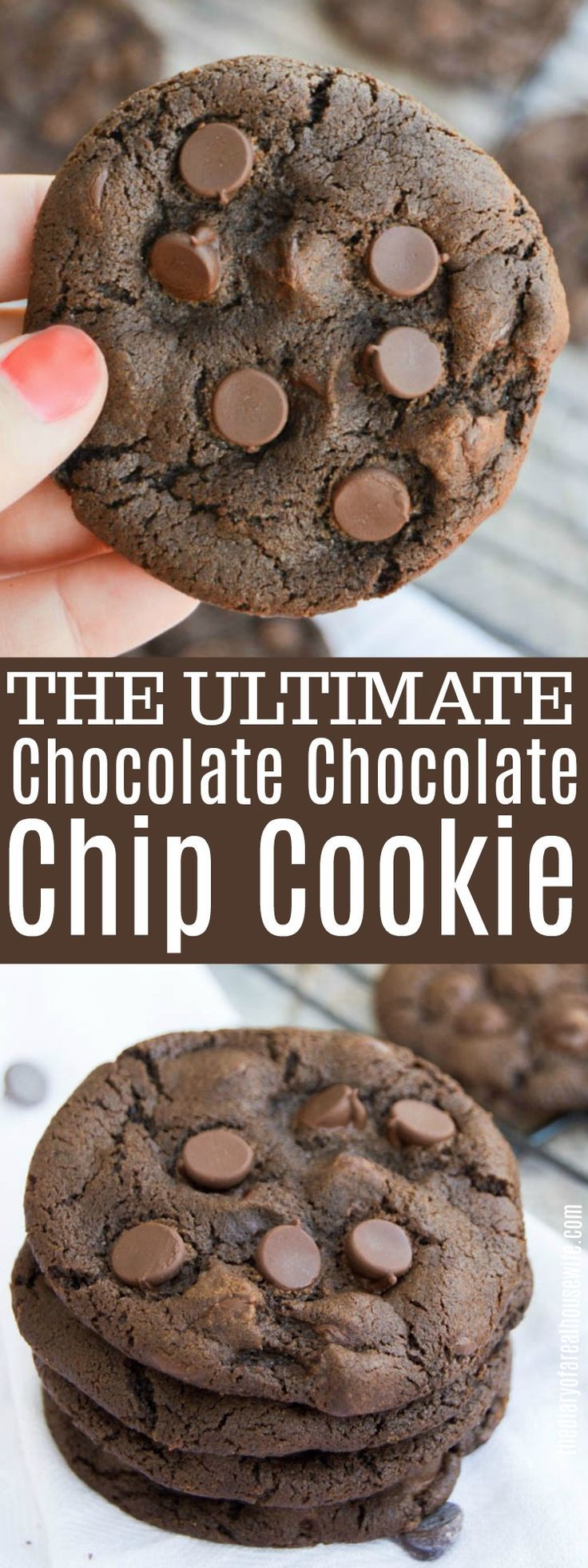 Chocolate Chocolate Chip Cookie • The Diary of a Real Housewife