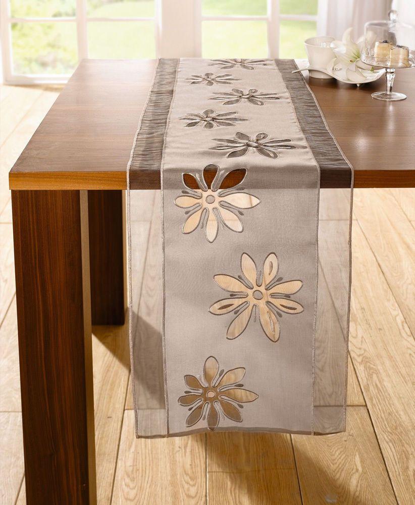 Tischlaufer 40 X 160 Cm Tischdecke Tischtuch Tisch Deko Landhaus Organza Braun Ebay Tischlaufer Tischdecke Tischtuch