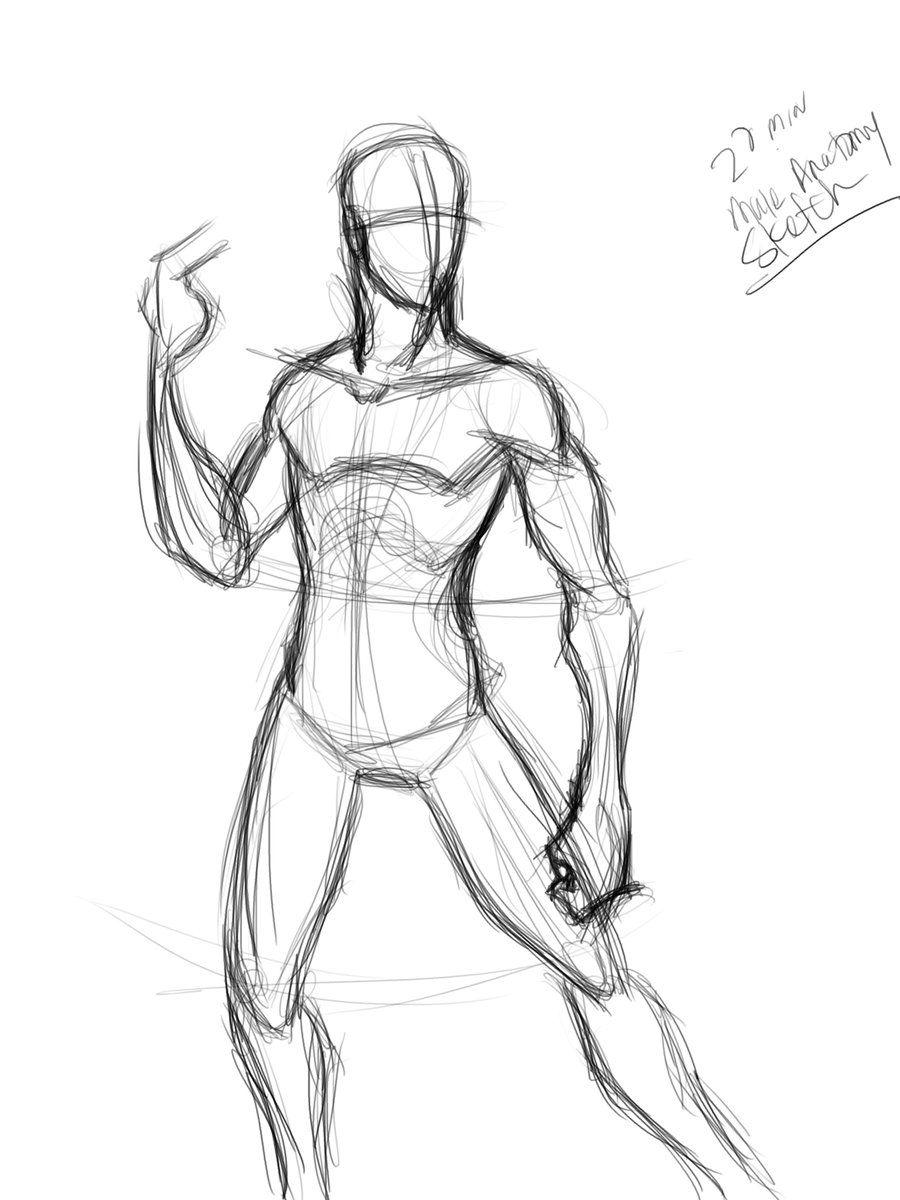 20 min male anatomy sketch by ~Mister-Grimm on deviantART | Anatomy ...