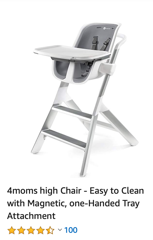 4moms High Chair Easy To Clean With Magnetic One Handed Tray