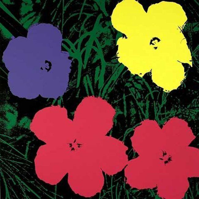 Andy Warhol Flowers Serigraph Sunday B. Morning Pink Black #andywarhol