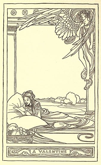 """a valentine"" by edmund dulac"